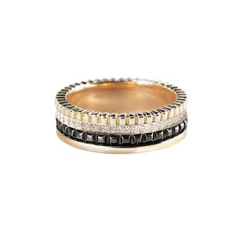 Diamanten hochzeit drei farben ring isoliert