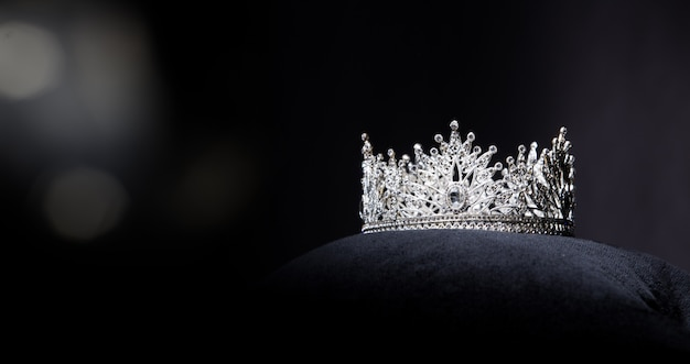 Diamond silver crown für miss pageant beauty contest