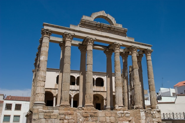 Dianas tempel, merida, badajoz, spanien