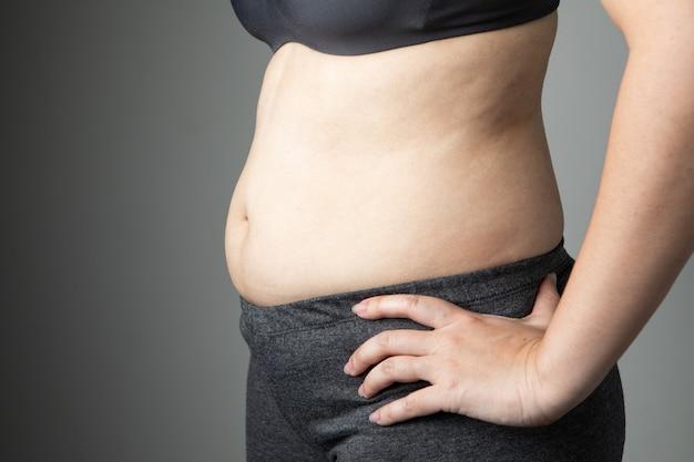 Dicke frau cellulite bauch ungesund