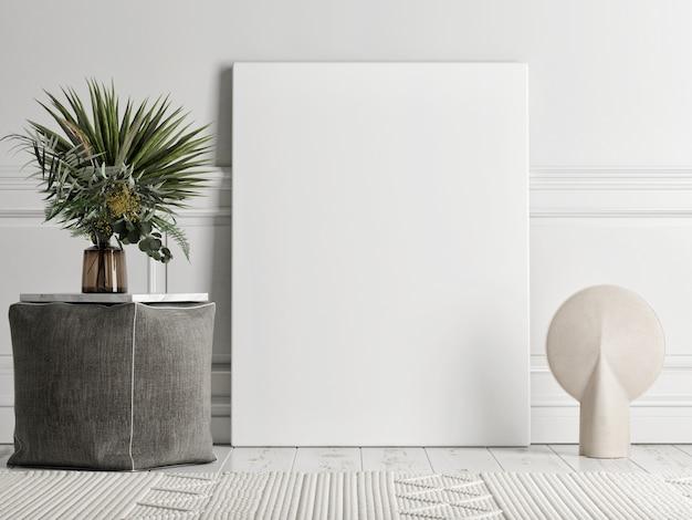 Die abstrakte minimale szene mit einer geometrischen form für produktpräsentation, blauen hintergrund, 3d-rendering, 3d-illustration
