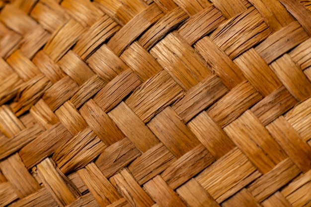 Die abstrakte sommerstrohhutmusterstruktur Premium Fotos