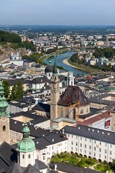 Die altstadt von salzburg, österreich