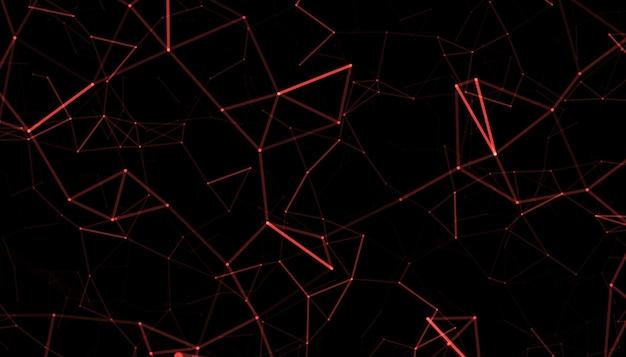 Die animation von leuchtenden fasern wechselt die farben.