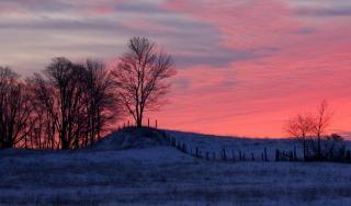 Die ankunft eines neuen winter day