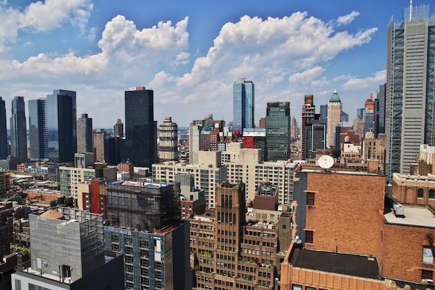 Die ansicht über new york city von vereinigten staaten