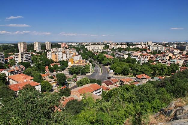 Die ansicht über plowdiw, bulgarien