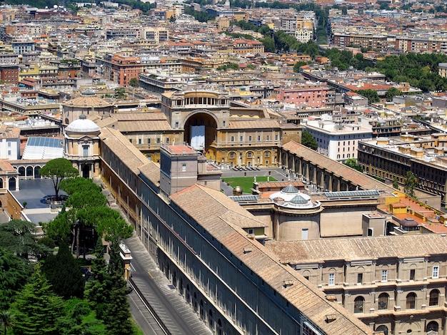 Die ansicht über vatikan, rom, italien