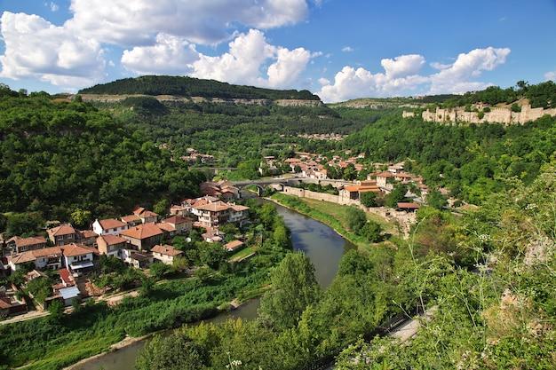 Die ansicht über veliko tarnovo in bulgarien