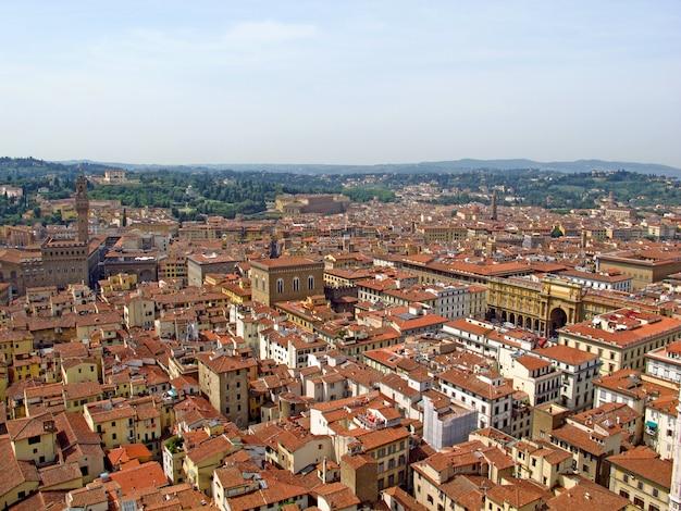 Die ansicht über weinlesehäuser in florenz, italien
