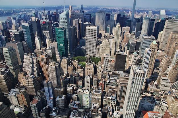 Die ansicht vom empire state building in new york, vereinigte staaten