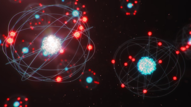 Die atomstruktur ist die kleinste materieebene, die chemische elemente bildet
