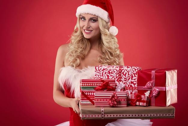Die auswahl an geschenken ist sehr groß