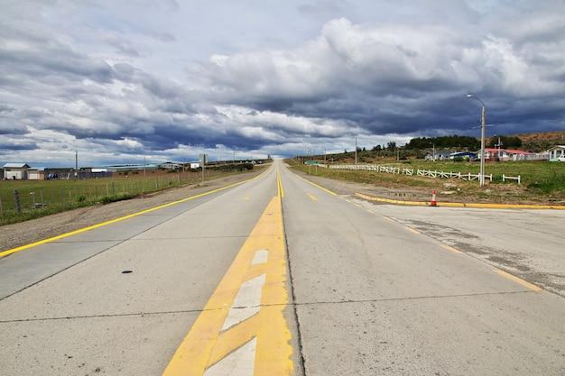 Die autobahn in patagonien, chile