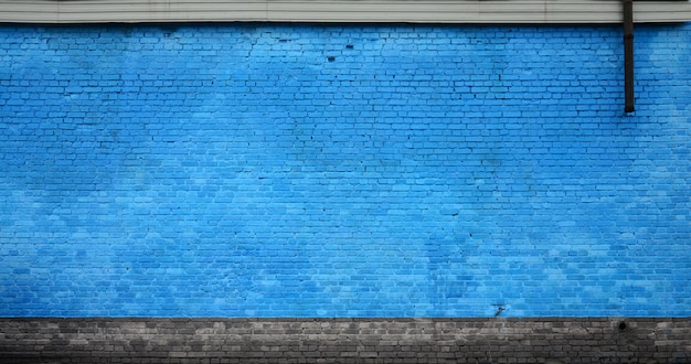 Die beschaffenheit der backsteinmauer vieler reihen der ziegelsteine gemalt in der blauen farbe