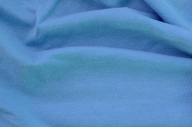 Die beschaffenheit des gewebes im blauen hintergrund