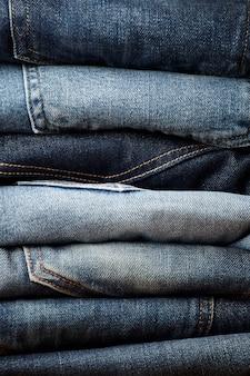 Die blue jeans stoffdetails