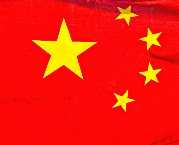 Die chinesische nationalflagge auf weiß