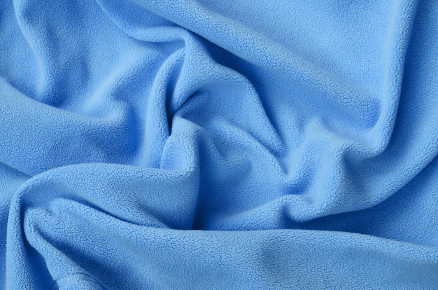 Die decke aus pelzigem blauem fleece