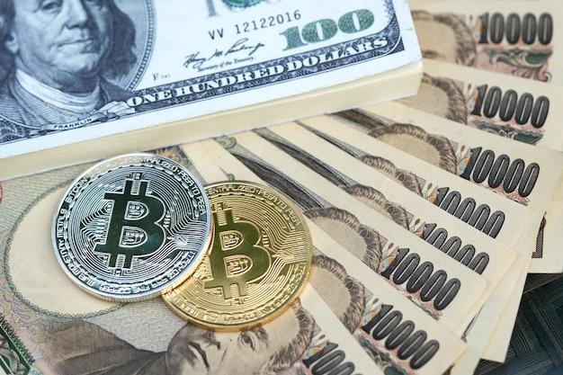 Die digitale währung (bitmünze) besteht aus silber und gold