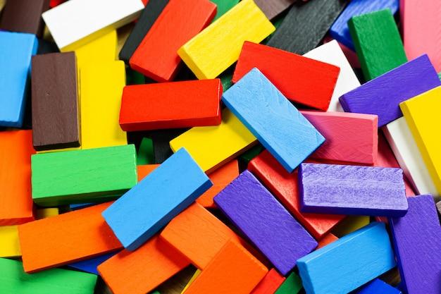 Die dominofarbenahaufnahme für hintergrund.