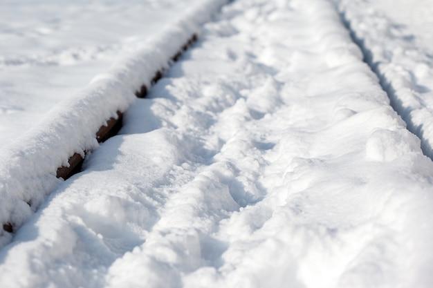 Die eisenbahn im schnee