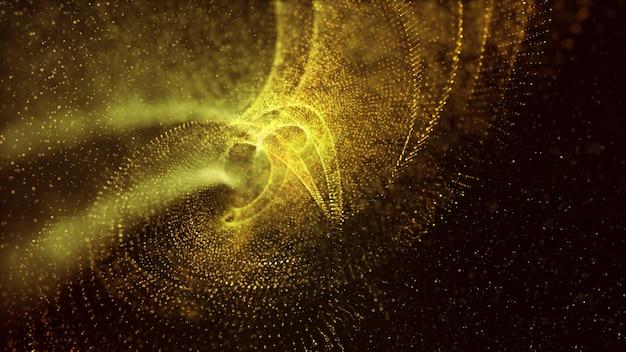 Die festliche funkelnweinlese beleuchtet abstrakten hintergrund, hell und das glühen der gelb- und goldfarbe kann für feier verwenden