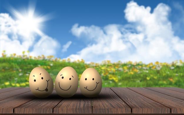 Die glücklichen goldenen eier