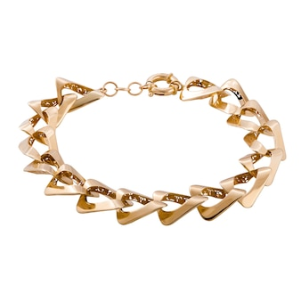 Die goldene bracele der dame. stilvolles schmuckfrauengeschenk.
