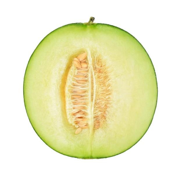 Die hälfte der melone isoliert