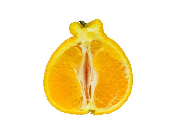 Die hälfte und orange