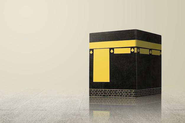 Die heilige kaaba mit hellem hintergrund