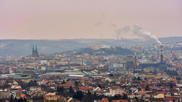 Die ikonen der alten kirchen der stadt brno, der burgen spilberk und petrov. tschechische republik- europa.