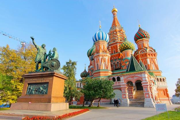 Die kathedrale des heilig-basilikums, moskau, russland