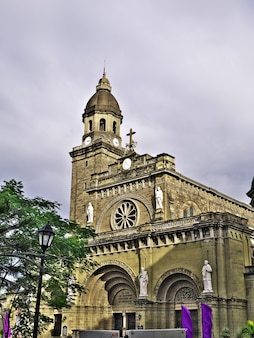 Die kathedrale in der stadt manila philippinen