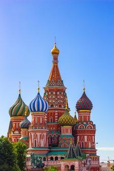 Die kathedrale st.-basilikums, moskau, russland, rotes quadrat