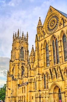 Die kathedrale und die metropolitische kirche st. peter in york. england, großbritannien