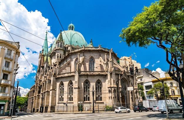 Die kathedrale von sao paulo siehe metropolitan cathedral in sao paulo, brasilien,