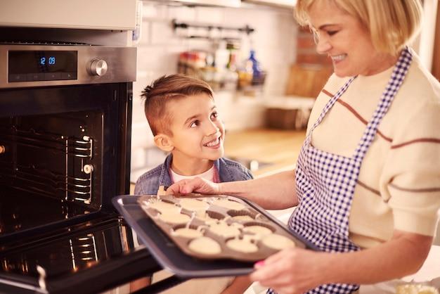 Die kekse sind in einer stunde fertig