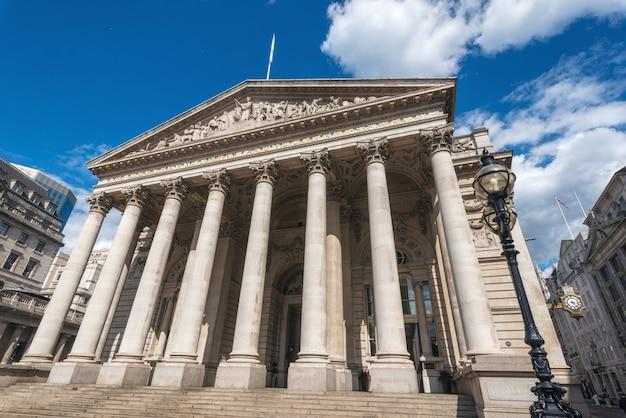 Die königliche börse, london, england, großbritannien.