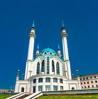 Die kul-scharif-moschee im kasaner kreml in tatarstan, russland