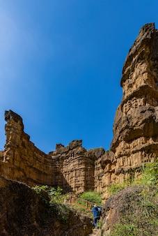 Die kunst der natur, pha chor grand canyon in der provinz chiang mai, thailand