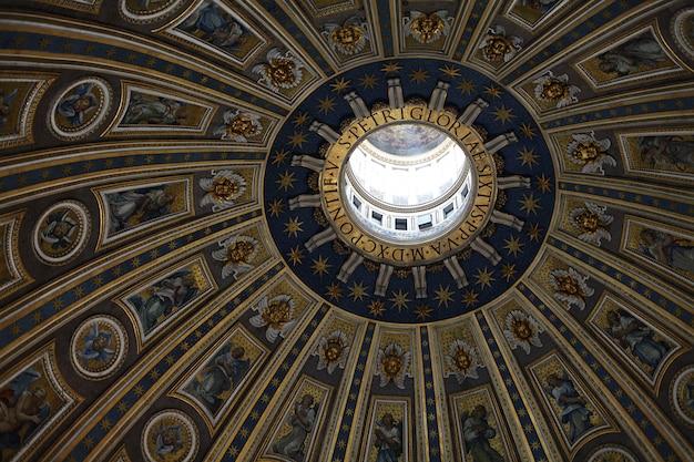 Die kuppel der sixtinischen kapelle im vatikan