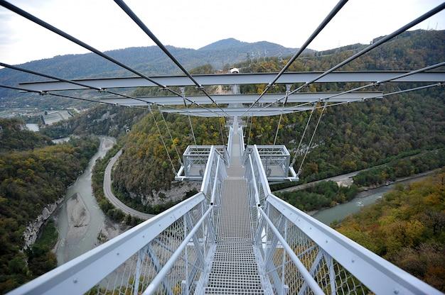 Die längste hängebrücke der welt, sotschi, russland