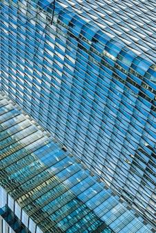 Die lokale struktur der städtischen modernen architektur und der hintergrund von wissenschaft und technik