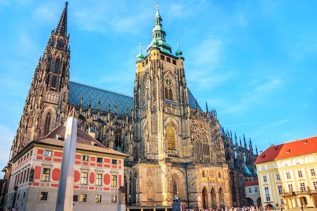 Die metropolitankathedrale der heiligen vitus in der prager burg.