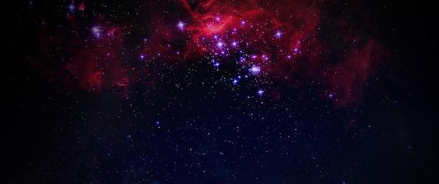 Die milchstraße abstrakte milchstraße galaxie hintergrund tapete, künstlerkunst, blick vom observatorium, breites banner. elemente dieses bildes von der nasa eingerichtet