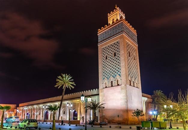 Die moulay el yazid moschee in marrakesch, marokko