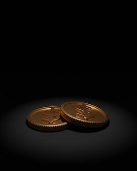 Die münzen, die 3d geblieben sind