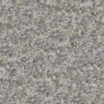 Die nahtlose textur der verwitterten alten betonoberfläche ist mit moos- und schmutzflecken bedeckt.